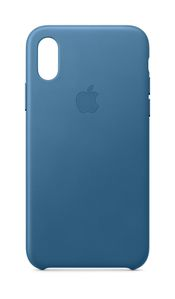 APPLE iPhone XS Leather Case - Cape Cod Blue (MTET2ZM/A)