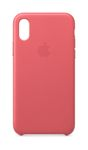 APPLE iPhone XS Leather Case - Peony Pink