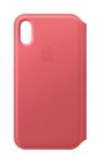 APPLE iPhone XS Leather Folio - Peony Pink