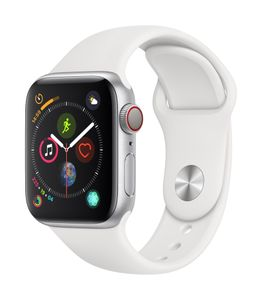 APPLE EOL AW Series4 GPS Cell 40mm Silver Alu White Sport Band (MTVA2DH/A)