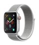 APPLE AW Series 4 GPS Cell 40mm Silver Alu Seashell Sport Loop