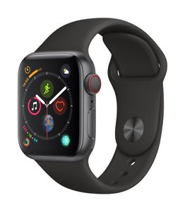 APPLE EOL AW Series 4 GPS Cell 40mm Sp Grey Alu Black Sport Band (MTVD2DH/A)