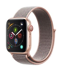 APPLE AW Series 4 GPS Cell 40mm Gold Alu Pink Sand Sport Loop (MTVH2DH/A)