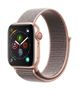 APPLE AW Series 4 GPS Cell 40mm Gold Alu Pink Sand Sport Loop
