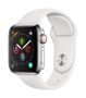 APPLE AW Series 4 GPS Cell 40mm Stainl. Steel  White Sport Band