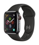 APPLE AW Series4 GPS Cell 40mm Black Stainl St Black Sport Band