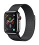 APPLE AW Series4 GPS Cell 40mm Black Stainl St Black Milanese Loo