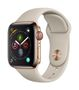 APPLE AW Series4 GPS Cell 40mm Gold Stainl Steel Stone Sport Band