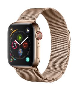 APPLE AW Series4 GPS Cell 40mm Gold Stainl St Gold Milanese Loop (MTVQ2DH/A)