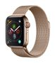 APPLE AW Series 4 GPS Cell 40mm Gold Stainl St Gold Milanese Loop