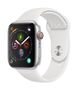 APPLE AW Series 4 GPS Cell 44mm Silver Alu White Sport Band