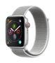 APPLE AW Series 4 GPS Cell 44mm Silver Alu Seashell Sport Loop