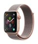 APPLE AW Series 4 GPS Cell 44mm Gold Alu Pink Sand Sport Loop
