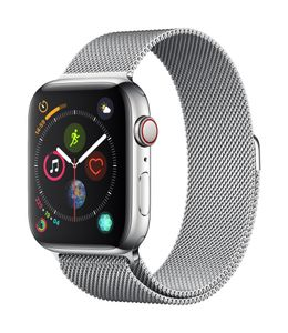 APPLE AW Series 4 GPS Cell 44mm Stainless Steel Milanese Loop (MTX12DH/A)