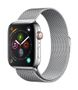 APPLE AW Series 4 GPS Cell 44mm Stainless Steel Milanese Loop
