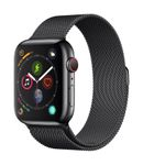 APPLE AW Series4 GPS Cell 44mm Black Stainl St Black Milanese Loo