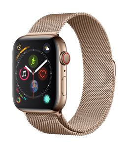APPLE EOL AW Series4 GPS Cell 44mm Gold Stainl St. Gold Milanese (MTX52DH/A)