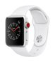 APPLE AW Series 3 GPS Cell 38mm Silver Alu White Sport Band