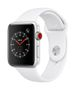 APPLE AW Series 3 GPS Cell 42mm Silver Alu White Sport Band