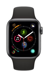 APPLE AW Series4 GPS Cell 40mm Sp Grey Alu Black Sport Band (MTVD2DH/A)