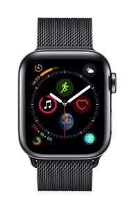 APPLE AW Series 4 GPS Cell 40mm Black Stainl St Black Milanese Loo (MTVM2DH/A)