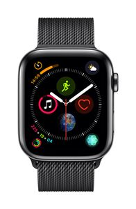 APPLE AW Series4 GPS Cell 44mm Black Stainl St Black Milanese Loo (MTX32DH/A)