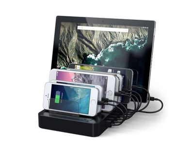 Satechi Satechi 7-Port USB Charging Station Dock with USB-C (ST-MCSTC7B)