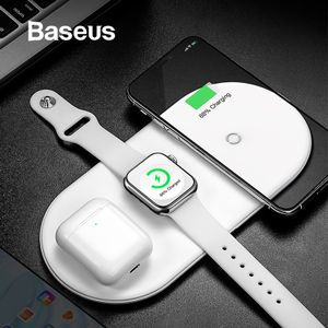 BASEUS Baseus 3 in 1 Wireless Charger Watch, iPhone, Airpods White (WX3IN1-02)
