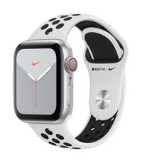 APPLE AW Nike Series 5 GPS Cell, 40mm Silver Alu Case Pl/Black
