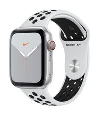 APPLE AW Nike Series 5 GPS Cell, 44mm Silver Alu Case Pl/Black