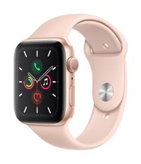 APPLE AW Series 5 GPS 44mm Gold Alu Case Pink Sand Sport Band