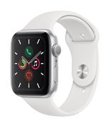 APPLE AW Series 5 GPS 44mm Silver Alu Case White Sport Band