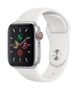 APPLE AW Series 5 GPS Cell 40mm Silver Alu Case White Sport Band