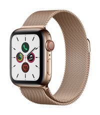 APPLE AW Series 5 GPS Cell 40mm Gold St Steel Case Gold Milanese