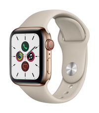 APPLE AW Series 5 GPS Cell 40mm Gold St Steel Case Stone Sport B