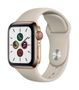 APPLE EOL AW Series 5 GPS Cell 40mm Gold St Steel Case Stone Sport