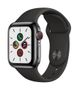 APPLE AW Series 5 GPS Cell 40mm Sp Black St Steel Case Black Sport