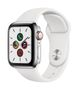 APPLE AW Series 5 GPS Cell 40mm St Steel Case White Sport Band