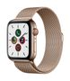 APPLE AW Series 5 GPS Cell 44mm Gold St Steel Case Gold Milanese