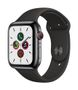 APPLE AW Series 5 GPS Cell 44mm Sp Black St Steel Case Black Sport
