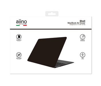 "Aiino Aiino - MacBook Air 13"" (2018->) Hard Case Glossy - Black (AIMBA13GRET-BK-APR)"
