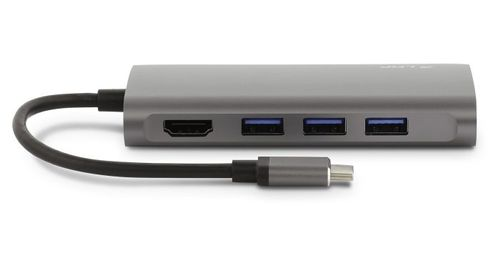 LMP LMP USB-C mini dock HDMI/ Ethernet/ SD/ 3xUSB/ USB-C Space Grey (15954)