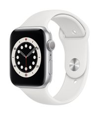 APPLE AW Series 6 GPS 44mm Silver Alu Case White Sport Band