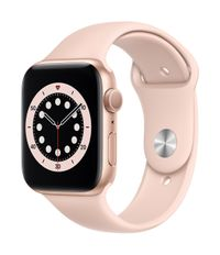 APPLE AW Series 6 GPS 44mm Gold Alu Case Pink Sand Sport Band
