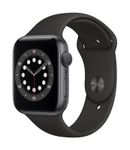 APPLE AW Series 6 GPS 44mm Space Gray Alu Case Black Sport Band