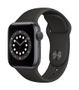 APPLE AW Series 6 GPS 40mm Space Gray Alu Case Black Sport Band