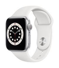 APPLE AW Series 6 GPS 40mm Silver Alu Case White Sport Band