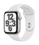 APPLE AW SE GPS 44mm Silver Alu Case White Sport Band