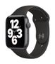 APPLE AW SE GPS 44mm Space Gray Alu Case Black Sport Band