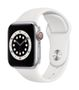 APPLE AW Series 6 GPS Cell 40mm Silver Alu Case White Sport Band